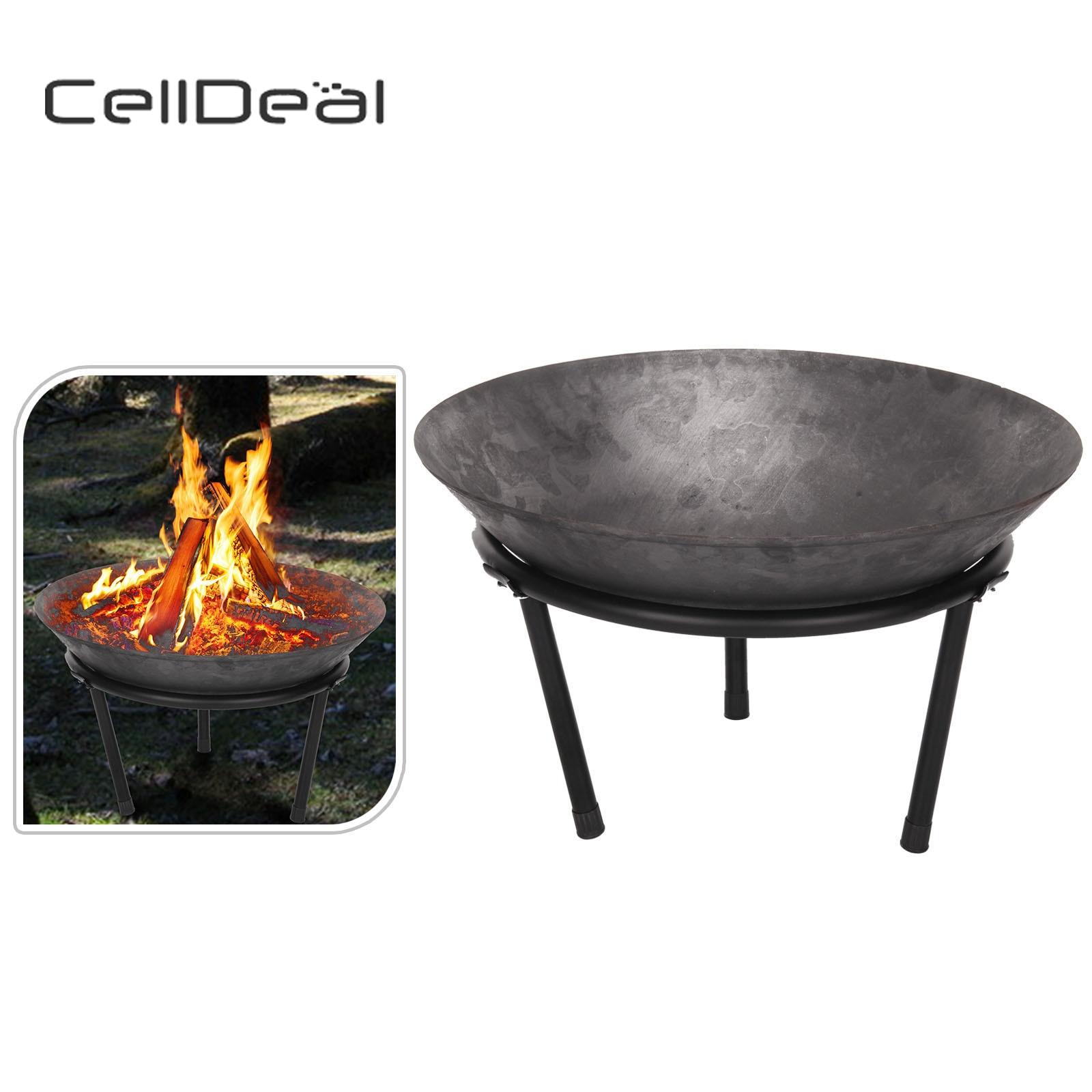 CellDeal foyer en fonte bol à feu Bbq jardin ambiance extérieure Hk cheminée