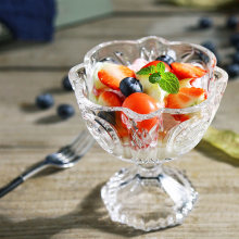 Прозрачная миска для мороженого 300 мл бессвинцовое стекло сока
