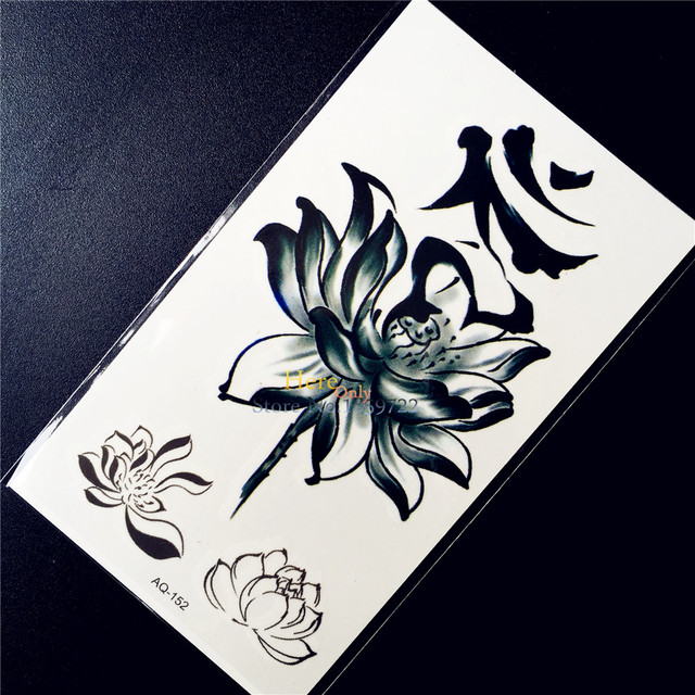 3d Designs Lotus Flower Fake Waterproof Temporary Tattoo Women Body