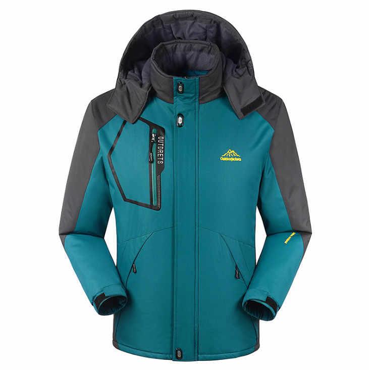 プラス厚いベルベット冬のジャケットの男性女性暖かい生き抜く防風防風パーカーコートメンズ jaqueta masculina M-8XL サイズ