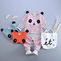 Children S Clothing High Quality 2016 Spring Baby Girls Boys Cartoon Panda Sports Suits Infants Cotton