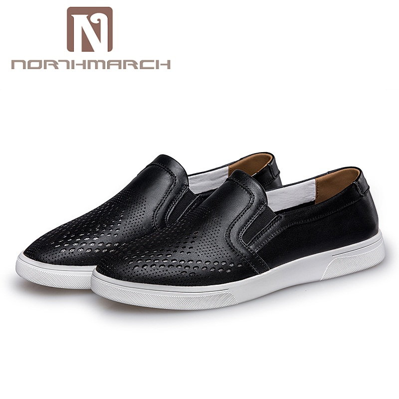 NORTHMARCH Big Size Genuine Leather Men Casual Shoes Leisure Flat Shoes Luxury Brand Mens Shoe Leather Zapatillas Hombre northmarch man shoes genuine leather mens sneaker luxury brand mens trainers footwear zapatillas hombre casual mocasines hombre