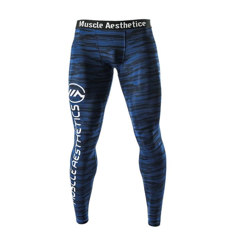Men's Skinny Leggings Running Pants Men Gym Pants Quick-drying Breathable Sports Training Underwear Yoga Leggings Men's Elastici