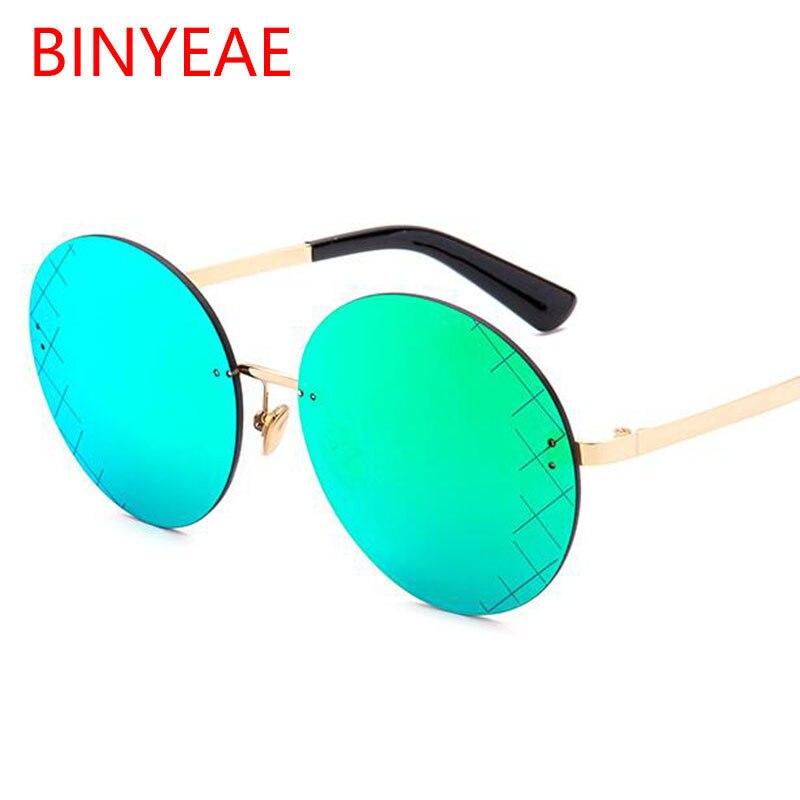 women brand designer red round sunglasses frameless big frame red ...