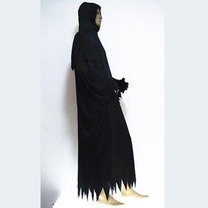 Image 2 - Disfraz de lobo de alta calidad con sombrero, máscaras, manos con esqueleto, para adultos y hombres, disfraz de halloween, esqueleto