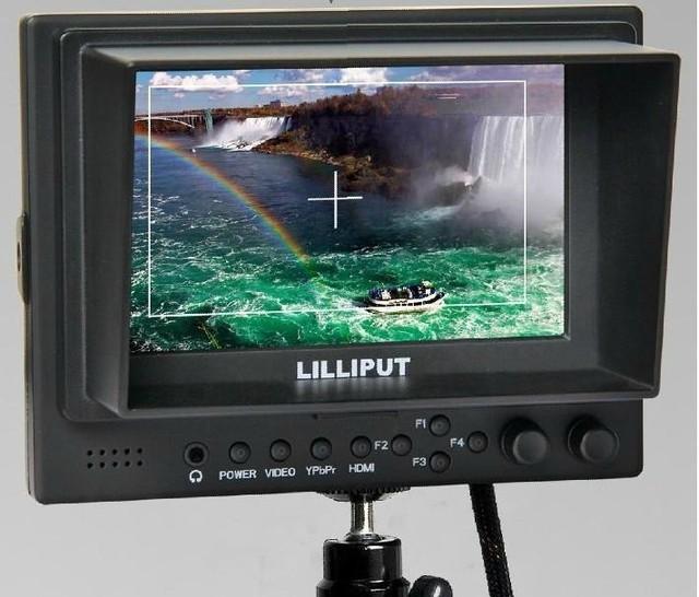 "Lilliput 569GL-50NP/HO/Y 5 ""LCD Vídeo HD Campo Monitor na Câmera HDMI YPbPr Input"