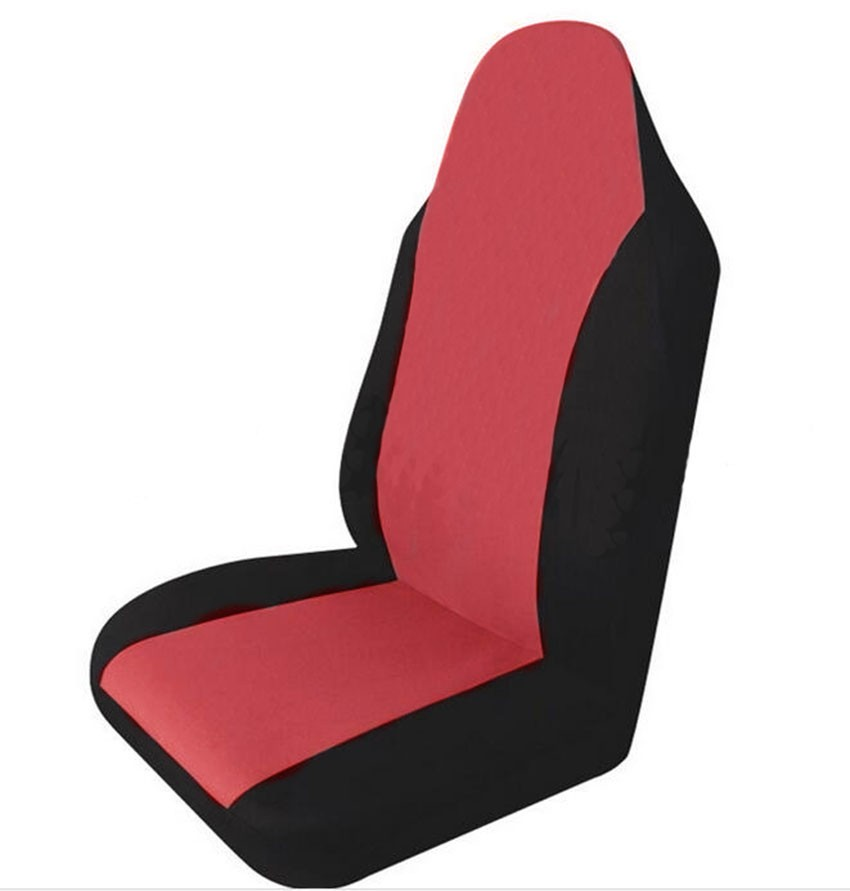 Simple Style High Back Bucket Car Seat Cover Universal Fit with Non- Detachable Headrests and Detachable Headrest