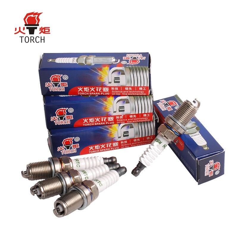 4packs/6packs China original TORCH spark plugs  FR7DC+/BKR6E/K20PR-U/RC9YC/K6RTC/NEON/ESCORT/FIESTA/ORION/SCORPIO/Y10/FELICIA