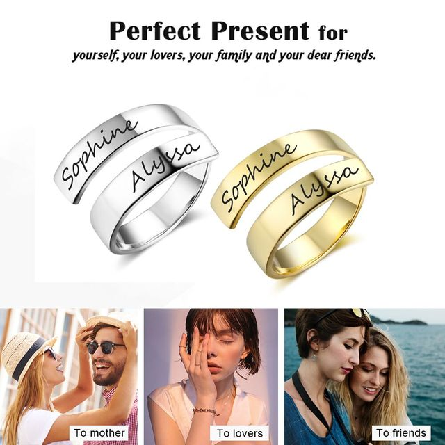 Personalized Stainless Steel Adjustable Ring 3
