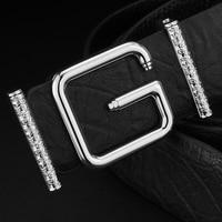 Luxury belt high quality genuine leather Waist Strap fashion full grain genuine leather belts men Cinturones Hombre ceinture g