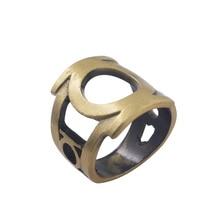 Hot Movie DC Superhero Comics Green Lantern Hal Jordan  Ring Fashion Charm for Women and Men Party Jewelry