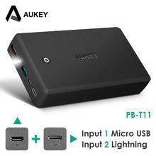 Banco de Potência Powerbank para Iphone 3.0 do Carregador Aukey 30000 MAH de Carga Rápida do Telefone Portátil Saída Dual USB 7 6 S Xiaomi MI5 Redmi3