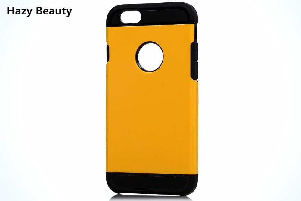 bilder für 100 teile/los Qualität Hybrid PC TPU Harte Rückseitige Abdeckung Für iPhone 5 s 6 6 plus Schlank Rüstung Phone fall