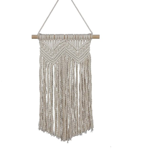 Bohemian Style Wall Hanging Tapestry Hand Woven Cotton Wool Home Wall Decor for Living Room Art Ornament Supplies