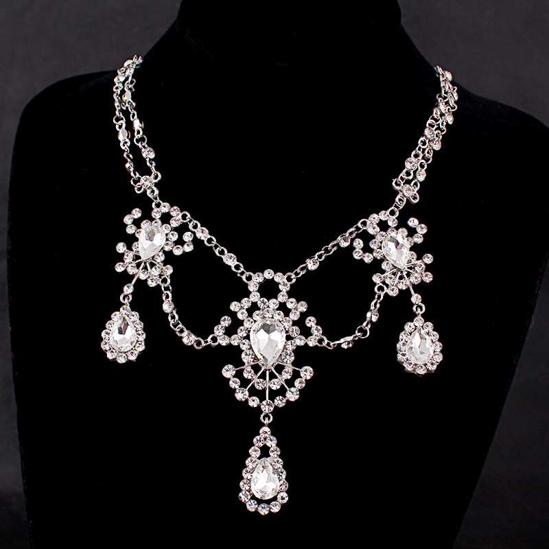 Luxury Elegant Wedding Jewelry Sets For Brides Water Drop Cz Pendent Necklace Women Boucle D Oreille Bijoux D010 In From