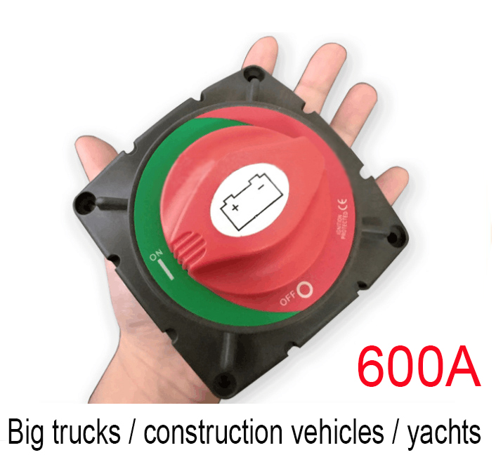 600A High Current battery switch for Truck/yacht on-off switch battery disconnect switch