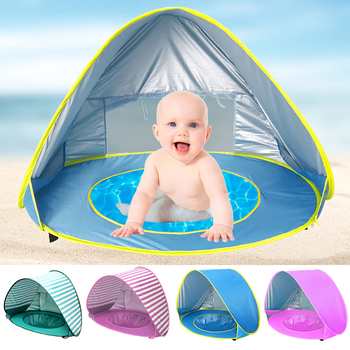 Thick Baby Beach Tent Uv-protecting Sunshelter With A Pool Waterproof Pop Up Awning Tent Kid Outdoor Camping Sunshade Beach 240 240 180cm 2doors 2windows beach sunshade outdoor camping tent suitable for 3 4 5persons pergola awning