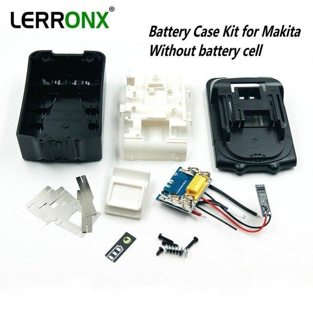 Kit com placa de circuito PCB LED indicador de substituição caso da bateria para Makita 18 v BL1830 BL1840 BL1850 SEM CÉLULAS de bateria