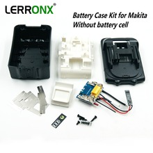 Replacement battery case kit with PCB circuit board LED indicator for Makita 18V battery BL1830 BL1840 BL1850 NO CELLS