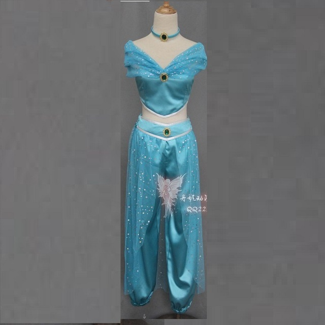 OHCOS Halloween Cos Party Aladdin Jasmine Princess Cosplay Costume Kids