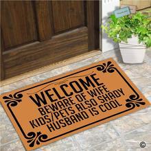 Придверный коврик, коврик для входной двери, добро пожаловать, остерегайтесь жены, детей, домашних животных, также тенистых, мужей, крутой коврик, 30 на 18 дюймов, машинная стирка
