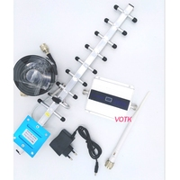 VOTK DCS 4G signal repeater MOBILE DCS 1800MHZ 4G signal booster cell phone DCS signal amplifier with yagi antenna full set
