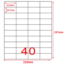 GL 35 А4 40 up адрес печати этикеток листов 52,5*29,7 мм 50 листов 2000 наклеек FBA доставка этикетокsticker a4label printinglabels a4  АлиЭкспресс