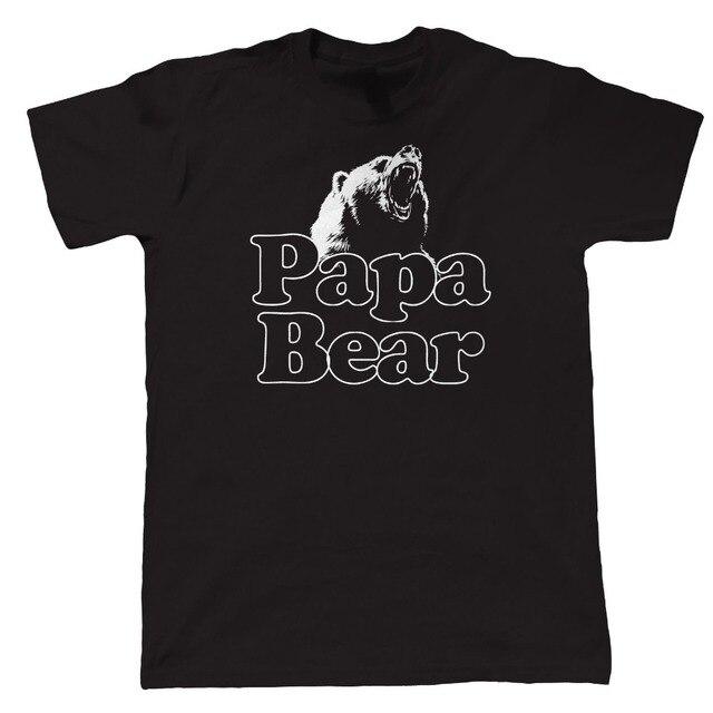 Custom Printed Shirts MenS Crew Neck Papa Bear Funny Birthday Gift For Dad Grandad Short Tall T Shirt