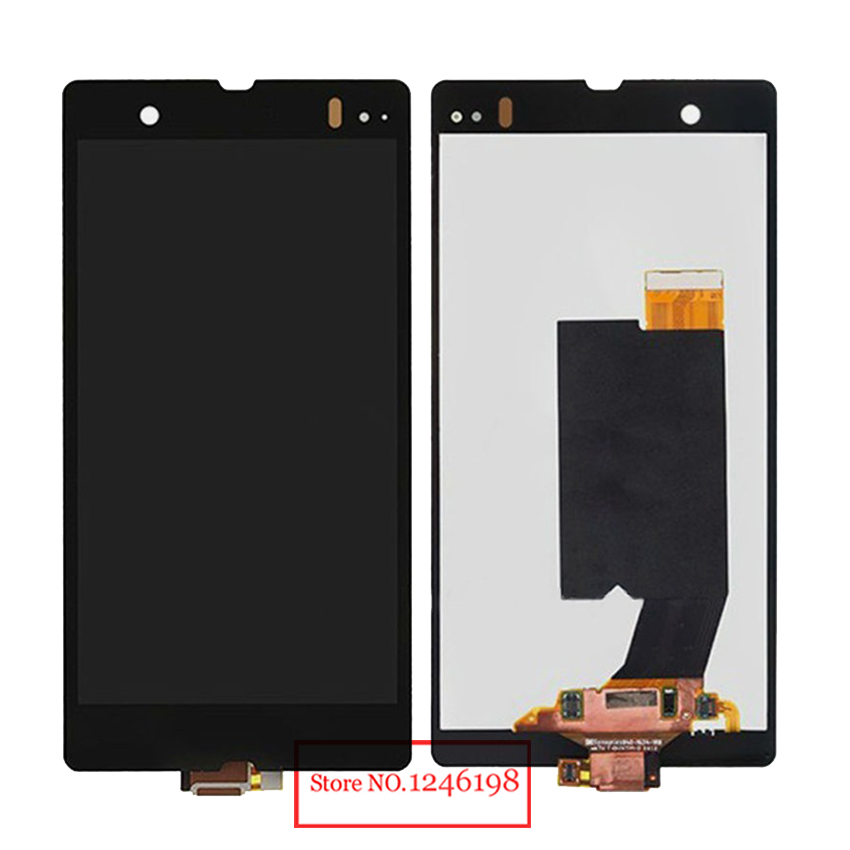 TOP Quality Black Full LCD Display Touch Screen Digitizer Assembly For Sony Xperia Z LT36i LT36h LT36 C6603 C6602 L36H Parts top quality black full lcd display touch