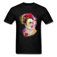 3D Digital Printing Frida Kahlo T Shirt For Men Colorful Drawing Plain Pure Cotton Tee Shirts Wholesale Popular Art Tshirt