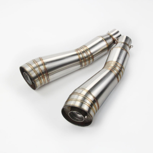 Motorcycle pipe Exhaust Middle Pipe for without exhaust S type exhaust pipe Satinless Steel Escape accessories