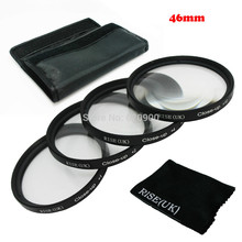 RISE(UK) 46MM Shut Up +1+2+Four+10 Macro Lens set for Canon SONY NIKON all Digicam + Cleansing fabric free