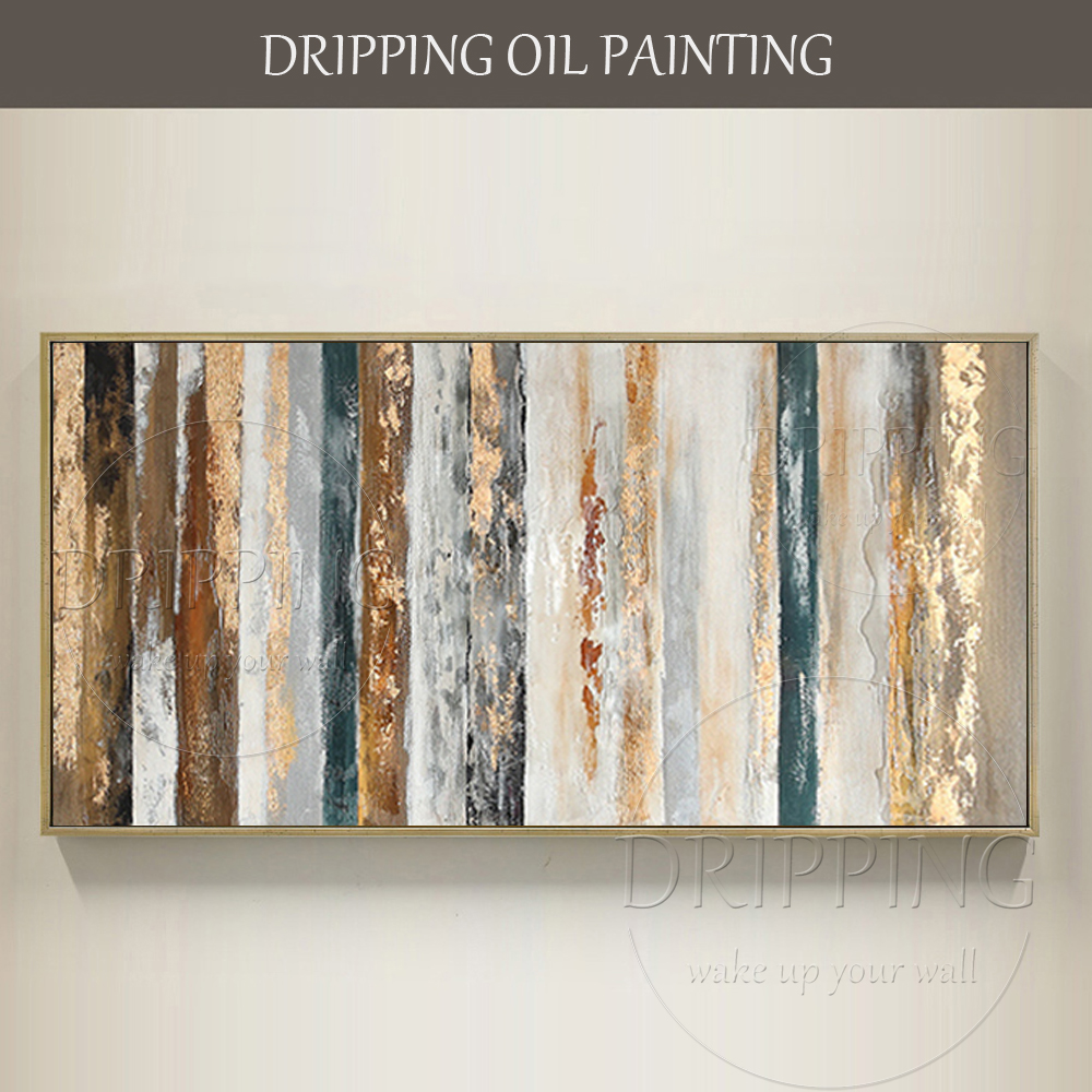 New Arrivals Hand-painted High Quality Contemporary Abstract Oil Painting On Canvas Large Canvas Painting Abstract Gold Painting