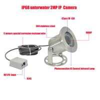 Free shipping 304 Stainless Steel 1080P IP68 Underwater POE IP Camera Underwater Camera Line 5 Meters Explosion-proof