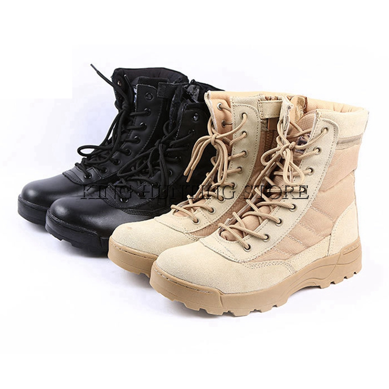 Hot Desert Tactical Military Boots Combat Boots Men Shoes Outdoor Climbing Men SWAT Army ...