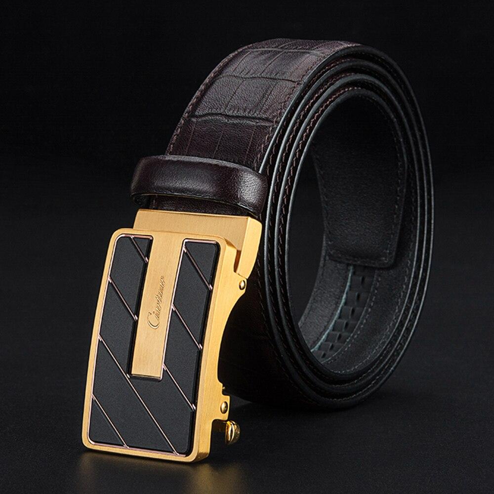 Ciartuar Leather Belts For Men Geniune Leather Belt  Automatic Buckle Designer Belt High Quality Luxury Waist Mens Leather Belts