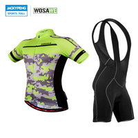 WOSAWE MTB Bike Bicycle Cycling Jersey Camisa Esportiva Masculina + Bid Shorts Pro Team Sports Riding Wear Bicicletas Clothings