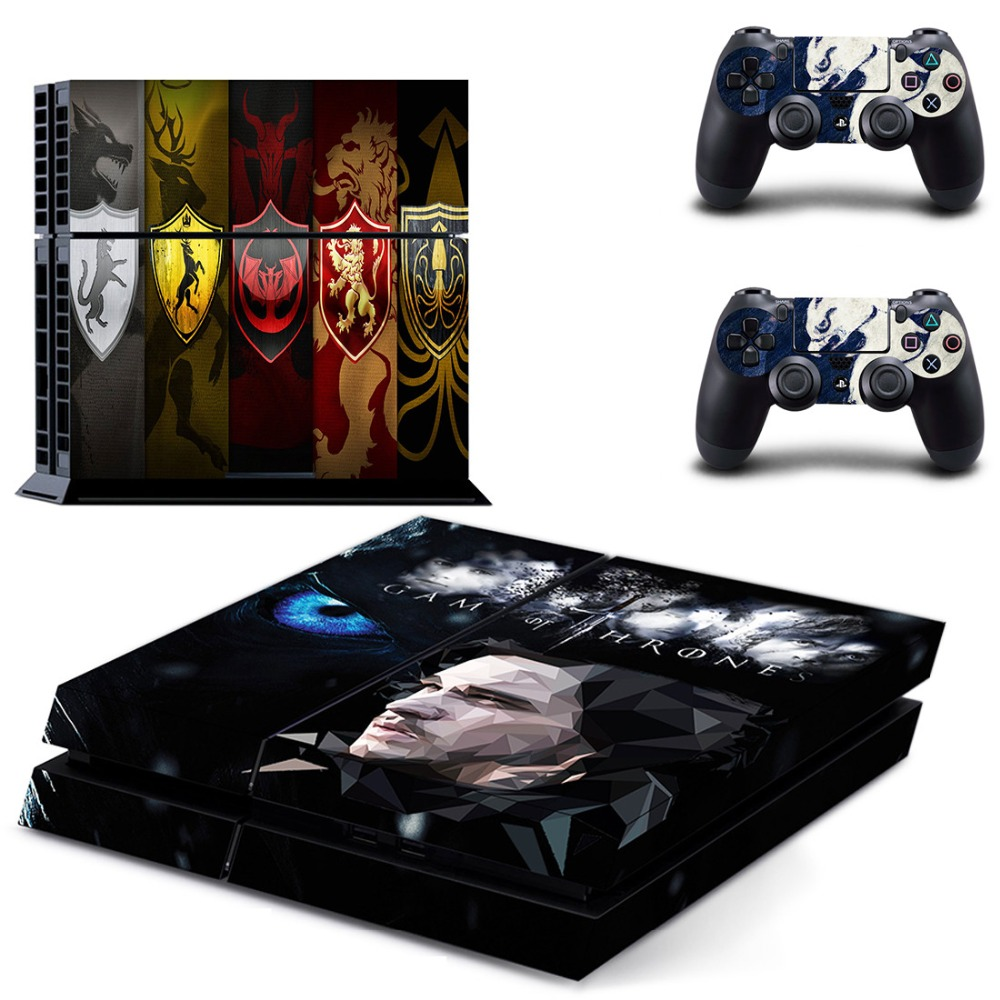 Image 2 - HOMEREALLY Stickers PS4 Skin Classic Game Thrones Winter is Coming Stark Wrap For Sony PlayStation 4 Console and Controller-in Stickers from Consumer Electronics