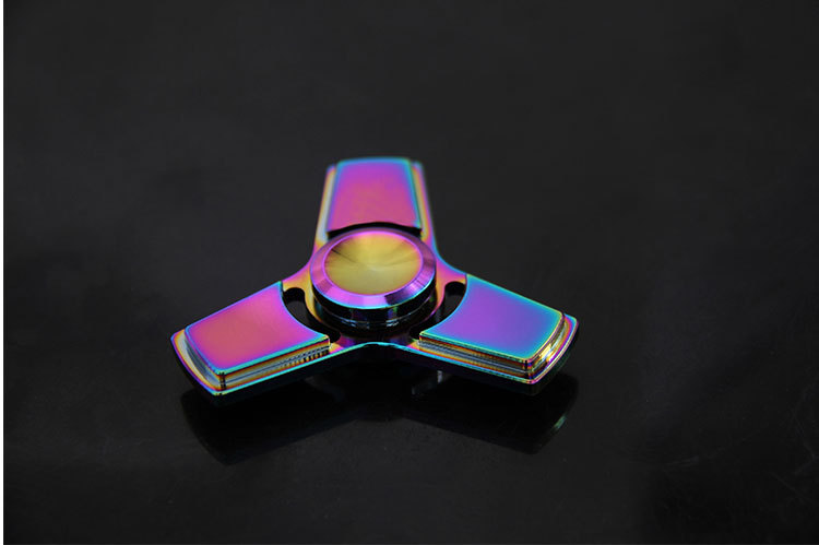 Colorful Funny EDC Tri-Spinner spinner stress Toys Hand Spinner Metal Fidget Spinner and ADHD Adults Children Educ