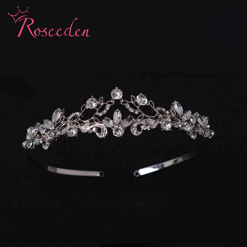 Hollow Crystal Headband Rhinestone Wedding Head Jewelry Vintage Bridal Hair Jewelry Pageant Crowns Headwear Headpieces RE116