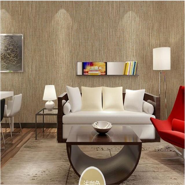 Beibehang Couleur Unie Bambou Tissé Revêtement Mural Salon Salle à Manger  Toile De Fond Sans Couture
