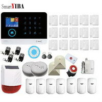 SmartYIBA Remote 3G Residential Alarm Wireless Wifi Burglar Alarm System for Smart House Home Security GPRS SMS IOS Android App