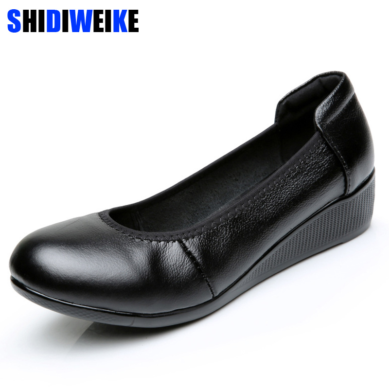 Women Wedges Shoes Women Shoes for Work Genuine Leather Wedges Sweet Loafers Slip On Womens Pregnant Wedges Shoes Boat ShoesWomen Wedges Shoes Women Shoes for Work Genuine Leather Wedges Sweet Loafers Slip On Womens Pregnant Wedges Shoes Boat Shoes