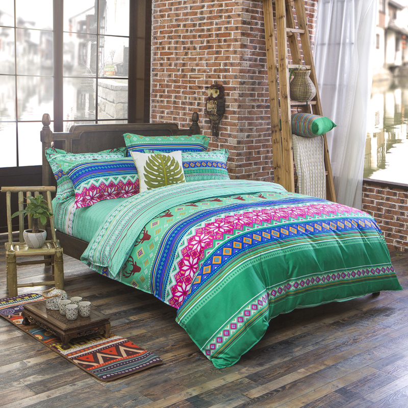 Aliexpress.com : Buy Luxury Bohemian Bedding Set 4pcs King/queen/full Size  Cotton Vintage Bedding Sets Bedspread Sheets Bed Luxury Home Textile From  ...