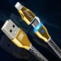LED Light Luxury 2 in 1 Sync Data Fast Charging Micro usb 8 pin Android Cable for iPhone 5 5s 6 6s plus for Samsung Sony LG HTC