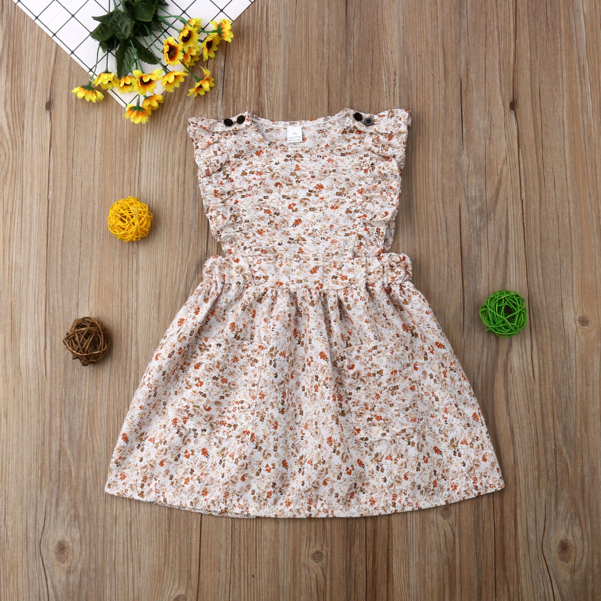 US Toddler Kids Baby Girls Sister Matching Romper Dress Sundress Outfits Clothes