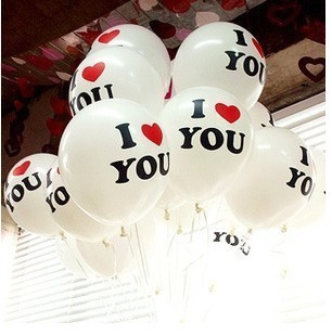 12' Thicken With Large Valentine 'I LOVE YOU'Printed Latex Balloons For Party Festival Wedding Decorations 10pcs/lot