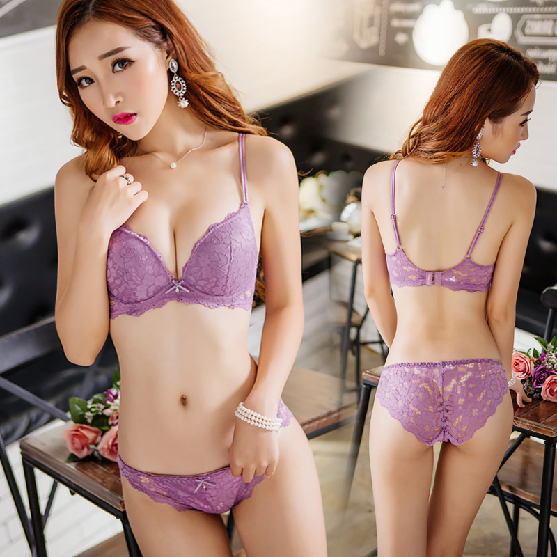 Women Sexy Bikini Elastic Spaghetti Strap Lingerie Underwear Set With