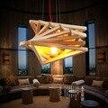 Novelty modern handmade wood pendant lights for bar restaurant dining room living room home lamp fixture lighting ligh
