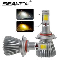 12V Dual Color Led Car Headlight Bulbs H3 H8 H9 H11 9005 9006 880 881 2